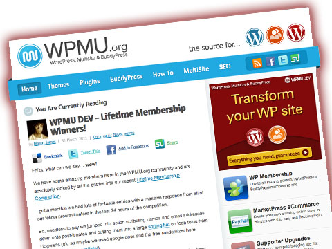 WPMU Dev WordPress Plugins Membership Winners