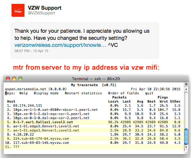 @vzwsuppor tech support request reply