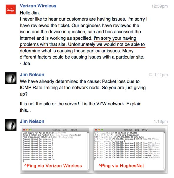 Verizon Wireless Technical Support Fails to Help Fix myvzw Network ...