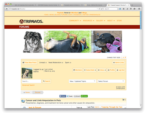 new tripawds discussion forums