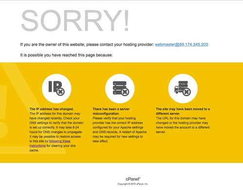 web server notice page